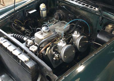 MG B verte avec Overdrive 00029
